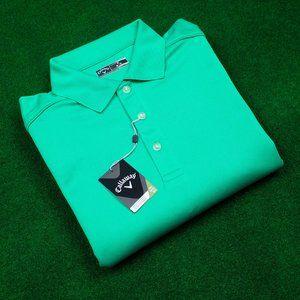 NWT Callaway Solid Green Polo